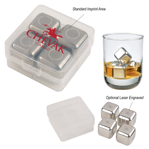 Stainless Steel Ice Cubes in Case
